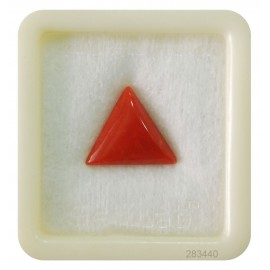 Natural Certified Coral Triangular 7+ 4.5ct